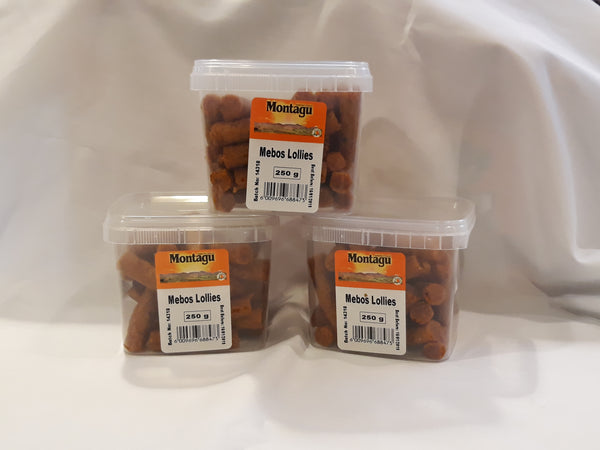 Montagu Dried Fruit Mebos Lollies 250g