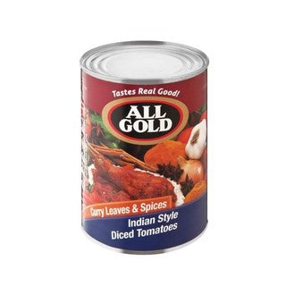 All Gold Indian Style Diced Tomatoes 410g