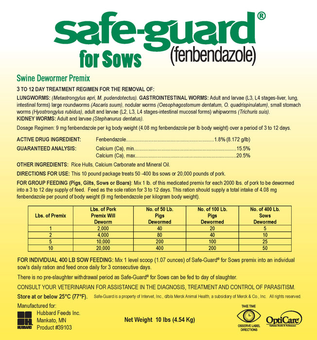 Safe-guard® Premix Dewormer for Pigs