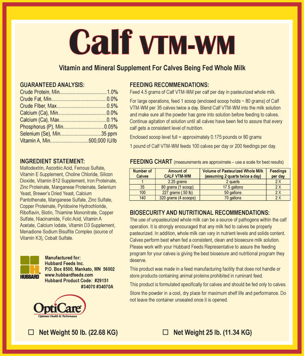 Calf VTM-WM Supplement
