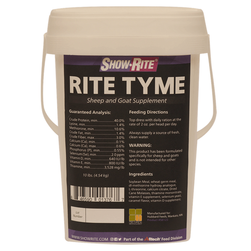 Show-Rite® Rite Tyme™ Sheep and Goat Supplement