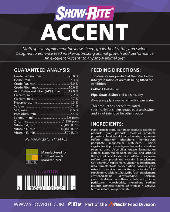Show-Rite® Accent Multi Species Supplement