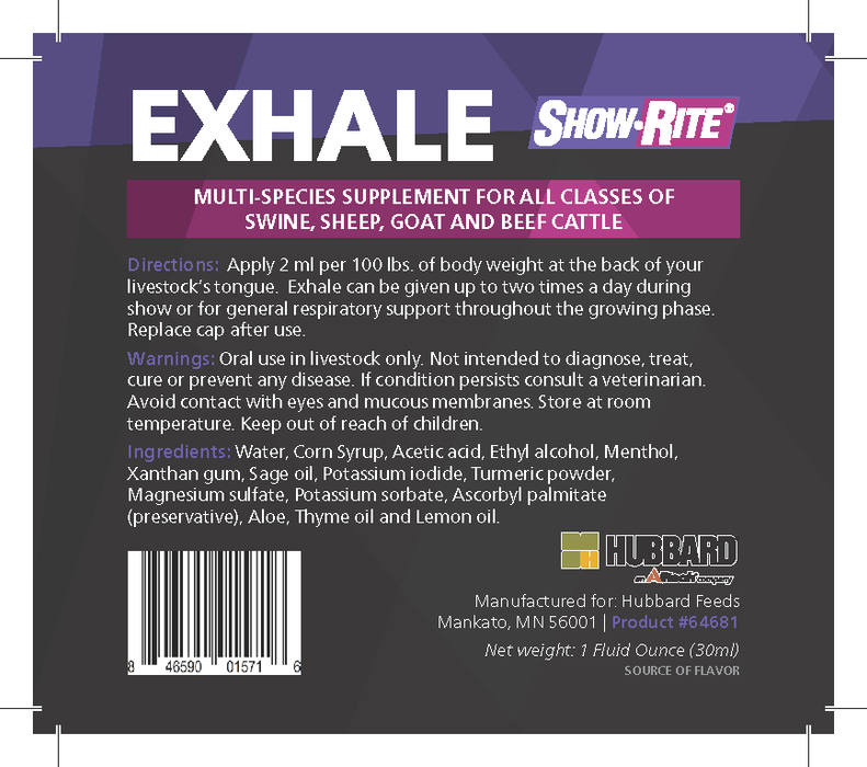 Show-Rite® Exhale Multi-Species Supplement