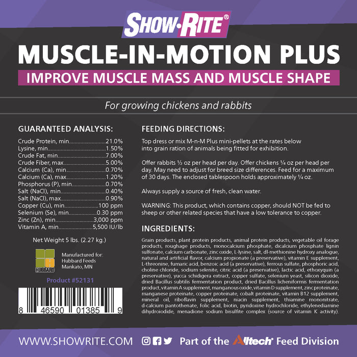Show-Rite® Muscle-In-Motion Plus Supplement for Rabbits and Poultry