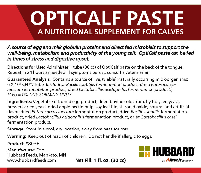 OptiCalf® Paste Supplement