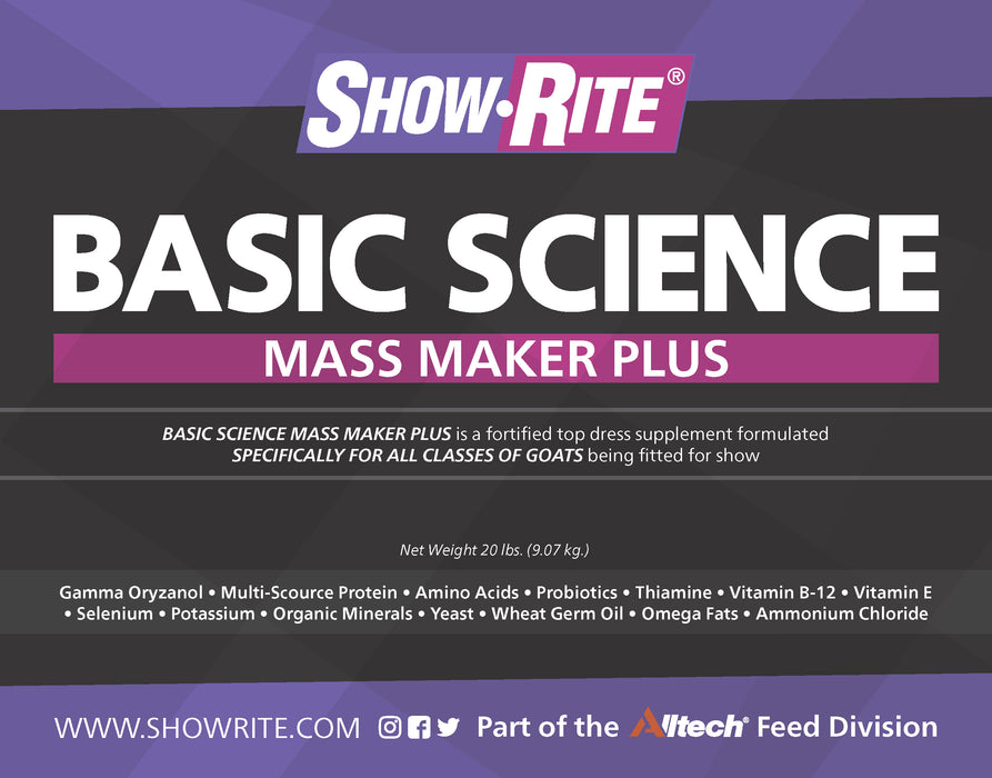 Show-Rite® Basic Science Mass Maker Plus Supplement for Goats