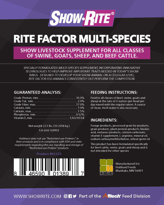 Show-Rite® Rite Factor Multi-Species Supplement