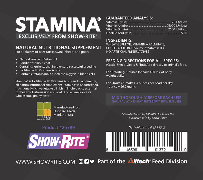 Show-Rite® Stamina® Supplement for Cows, Sheep, Goats & Pigs