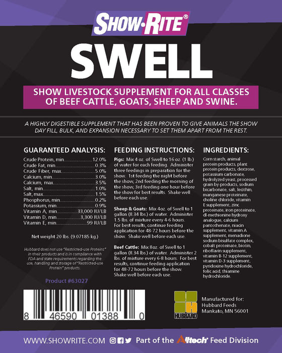 Show-Rite® Swell Multi-Species Show Livestock Supplement