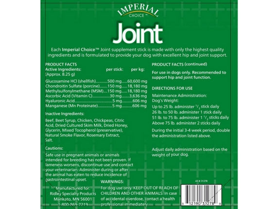 Imperial Choice™ Joint Supplement for Dogs