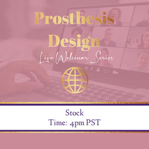 8 -Stock Hair Piece Design/Prosthesis Pt-1 Webinar REPLAY- STOP 4- 8/31/20