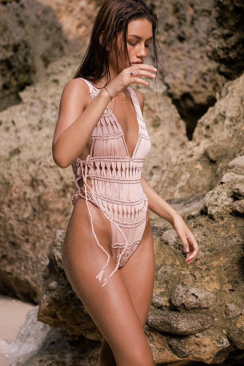 Rihanna Macrame One Piece