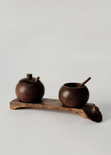 Palm Condiment Pots