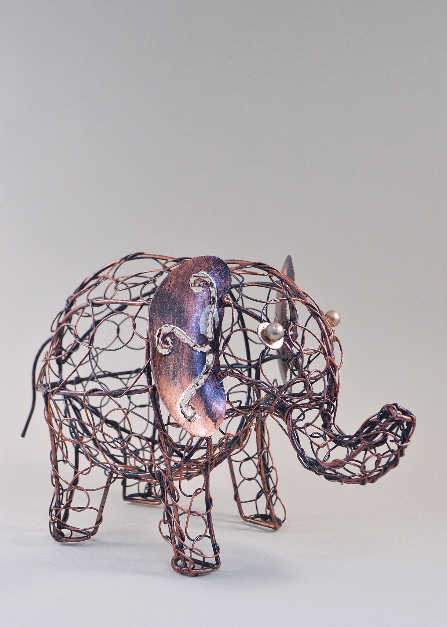 Wire Elephant Ornament
