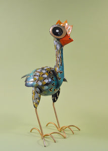 Metal Ostrich Ornament