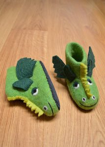 Green Dragon Felt Booties