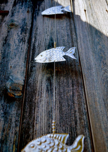 Silver Fish Beaded Hanger