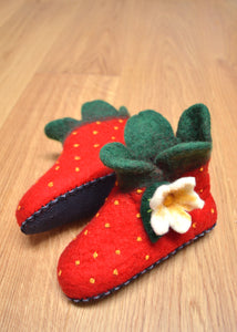 Strawberry Felt Booties