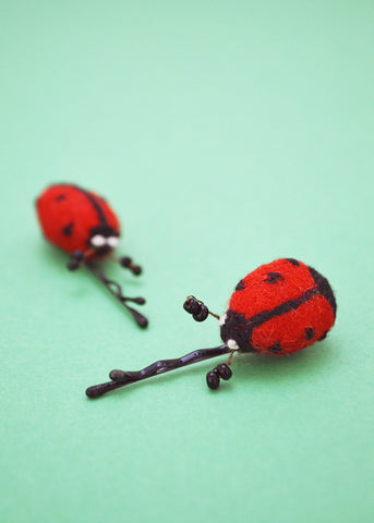 Ladybird Hair Slides