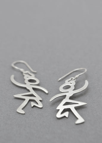 Tiny Dancer Silver Earrings