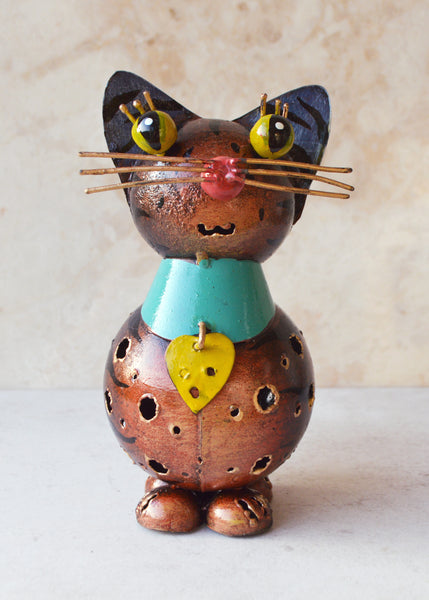Cat Metal Tea Light Holder