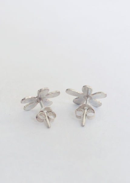 Silver Splat Stud Earrings