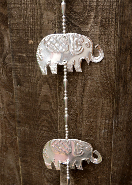 Silver Elephant Beaded Hanger