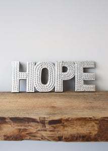 Hope - Silver Embossed Wall Decoration