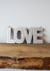 Love - Silver Embossed Wall Decoration