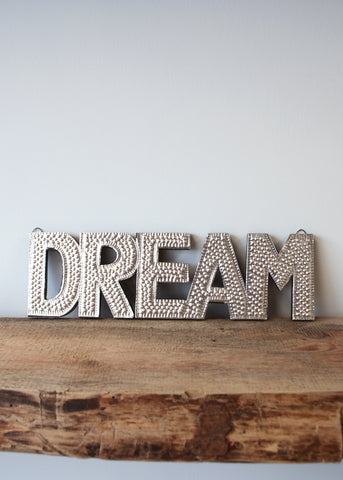 Dream - Silver Embossed Wall Decoration