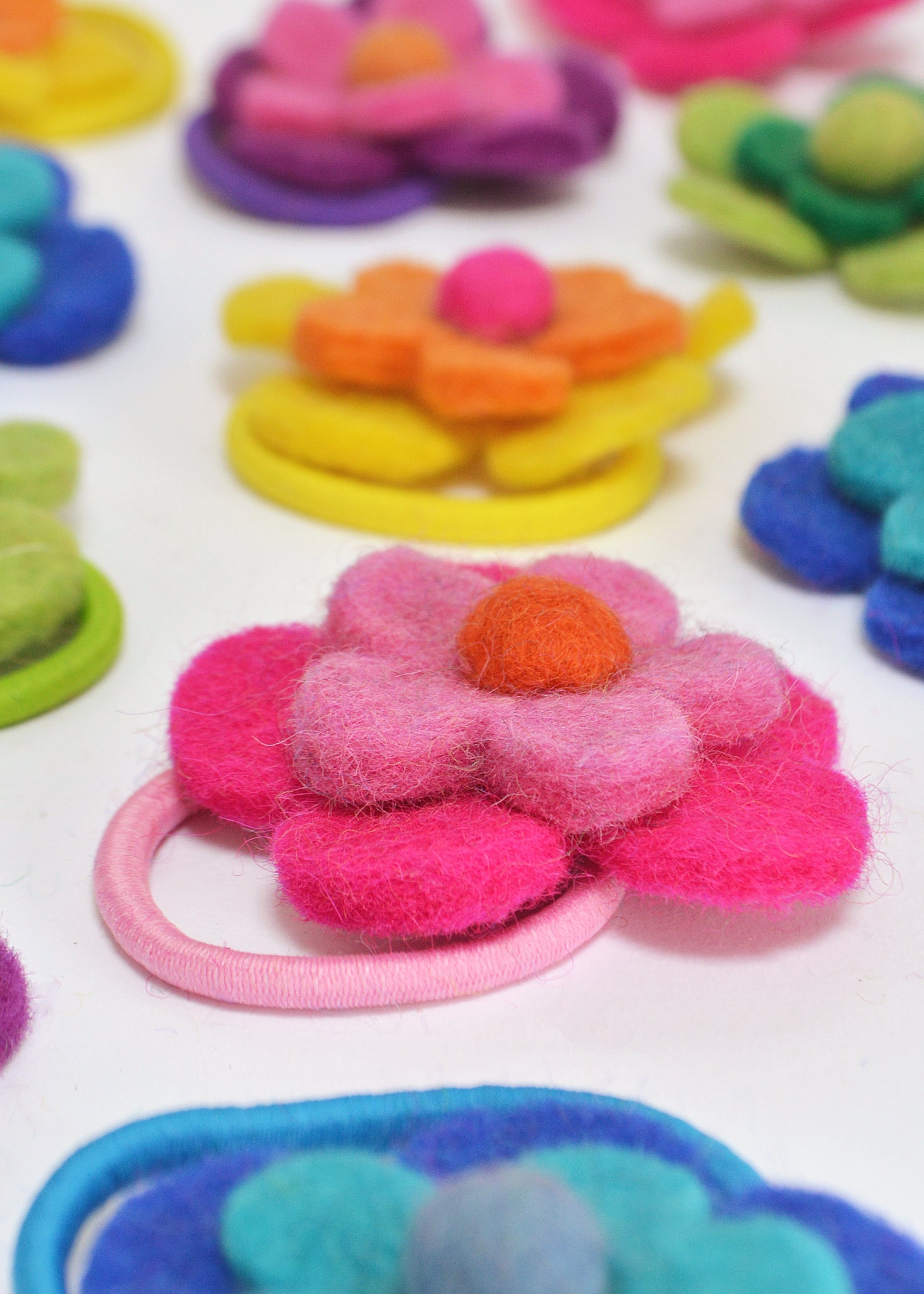 Felt Double Flower Bobble