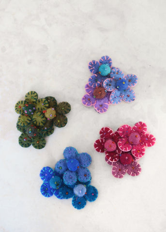 Triple Flower Brooch