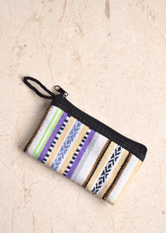 Mini Fabric Purse Neutral