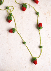 Felt Strawberry Necklace