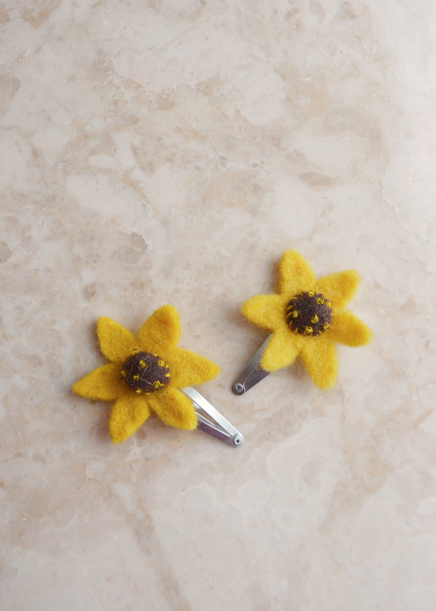 Sunflower Hairclips