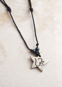 Om Bone Necklace