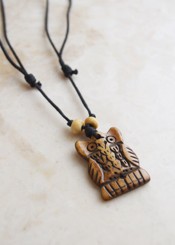 Owl Bone Necklace