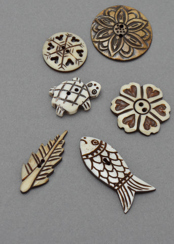 Bone Buttons - Various Designs