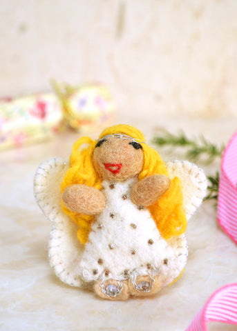 Angel Felt Brooch
