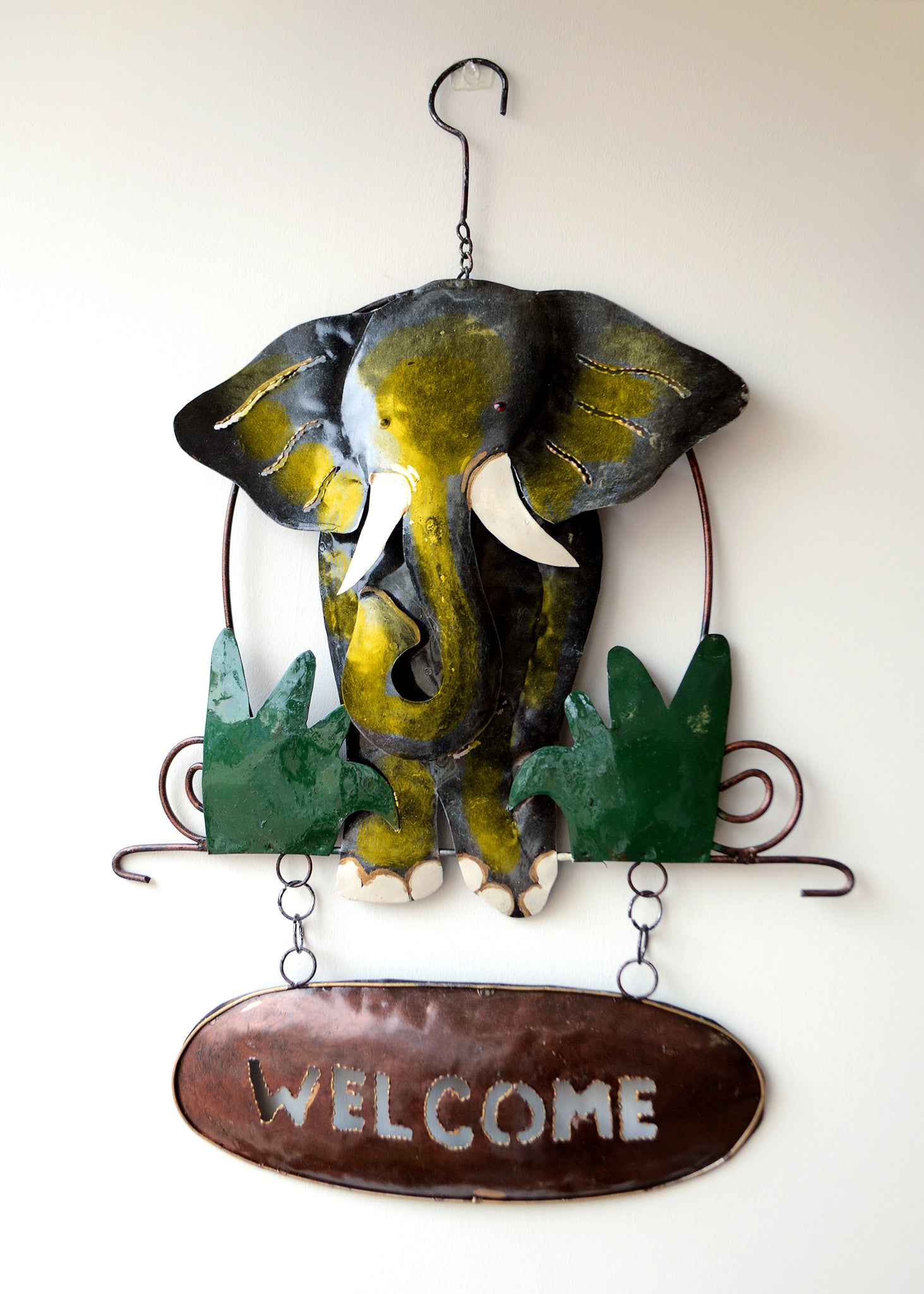 Gold Elephant Welcome Sign