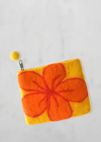 Yellow and Orange Flower Purse