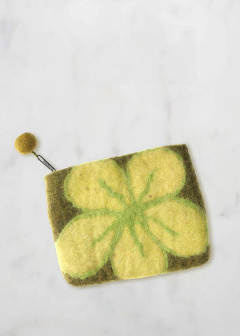 Green Flower Purse