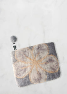 Grey Flower Purse