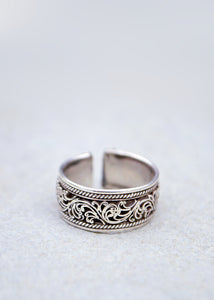 Silver Filigree Cuff Ring