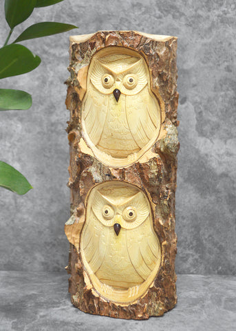 Double Owl Log