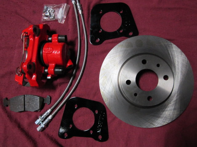 Fiat 124 Spider Big Brake Kit with Red Calipers - Front Brakes