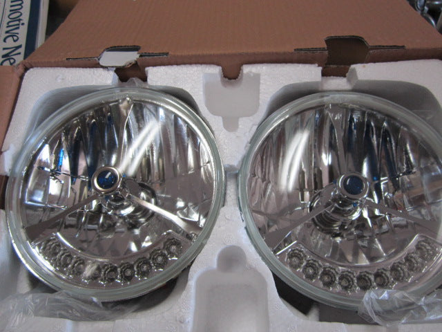 Fiat Spider Headlamps with Integrated LED Turn Signals, blue dot