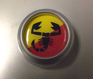 "1 3/4"" abarth soft dome emblem, set of 4"