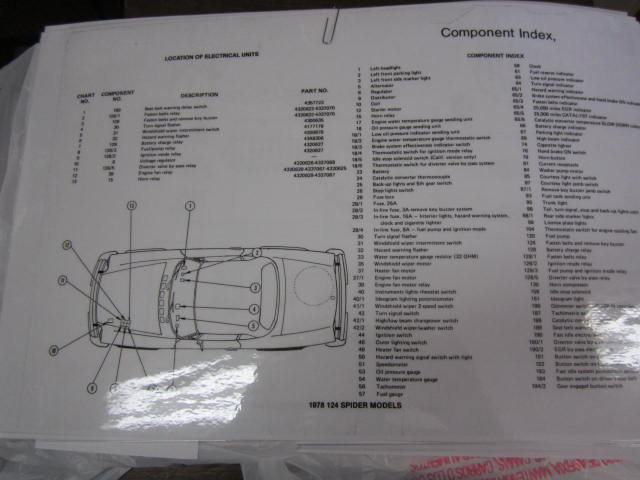 1978 Fiat Spider Wiring Diagram-Large & Laminated
