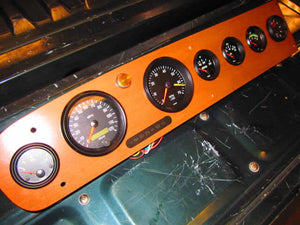 Fiat Spider Custom Dash Wood Kit with One Piece Instrument Cluster